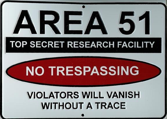 Зона 51 - вывеска