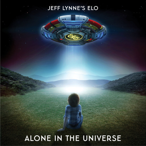 Cover art for ELO's 2015 album Alone In The Universe.